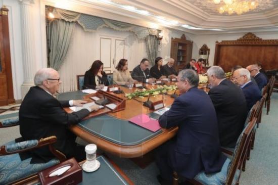 انطلاق الاجتماع الثاني بين رئيس الجمهورية و الموقعين على وثيقة قرطاج