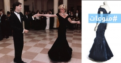 في المزاد العلني فستان ارتدته الأميرة ديانا وهي تراقص ترافولتا عام 1985